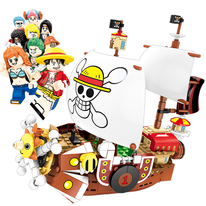 One Piece Building Block Compatible LegoINGly Figure Thousand Sunny Boat Model Set Toys For Children