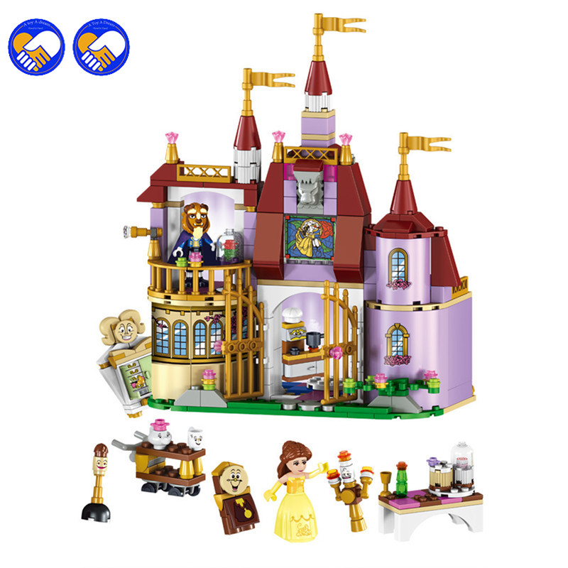 A toy A dream Bela elves princess Bell's magic castle Model Building Kits Blocks Bricks Girl Toy Legoingly a toy a dream 2016 new bela 10537 203pcs friends vet clinic model building kits blocks bricks girl toys gift 41085 lepin