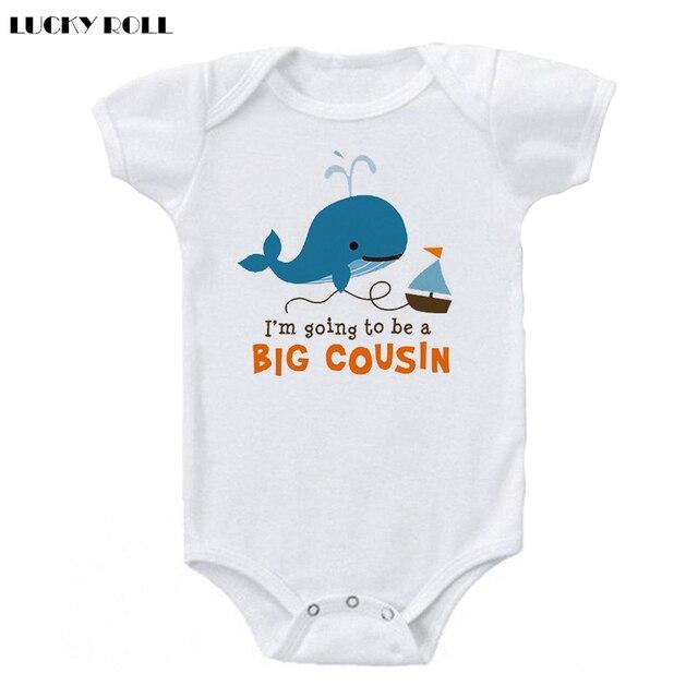 3f23266d LUCKY ROLL Cousins Baby Clothes Cartoon Shark Printed Summer Newborn Kids  Baby Boy Girl Bodysuit Jumpsuit Clothing Outfits 0-24M