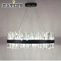 Modern Style Lamparas Crystal Glass Rod Led Pendant Light New Classic Brief Lamps Living Room Pendant