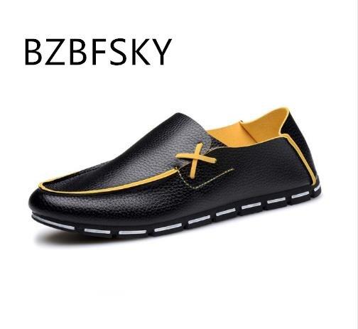 Casual beige Cuir Chaussure Mode blue White En Nouveaux black Homme Printemps Plates Mocassins Hommes Pu De Pois Zapatillas 2017 Chaussures ngXBXF