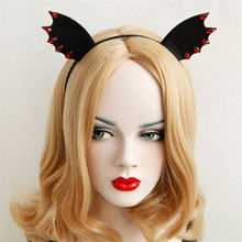 Haimeikang Black Vintage Ladies Halloween Party Headpiece Hairband Evil Gothic Headband Cosplay Costume Fancy Dress(China)