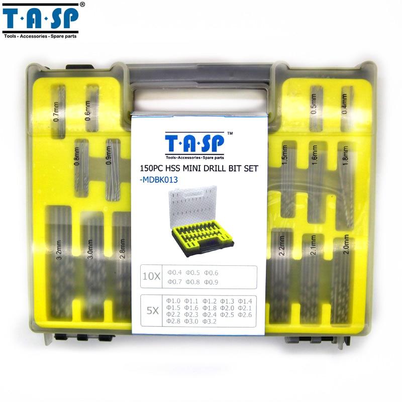 TASP 150PC HSS Micro PCB Drill Bit Set Precision Twist Drilling Kit - Foret - Photo 4