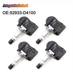4 шт. 52933-D4100 52933D4100 TPMS датчик давления в шинах для Optima Sportage Sorento Genesis Ioniq Ниро велостер автомобильные аксессуары