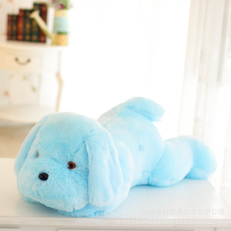 New Year 50CM and  80CM  Length Creative Night Light LED Lovely Dog Stuffed and Plush Toys Best Gifts for Kids and Friends  (3)