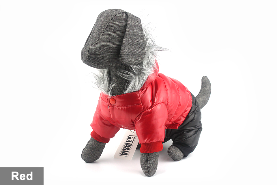 2017 NEW Design Winter Dog Clothes Winter Waterproof Pet Dog Coat Jacket Fashion Jumpsuit for Chihuahua Small Large Dogs PETASIA 414