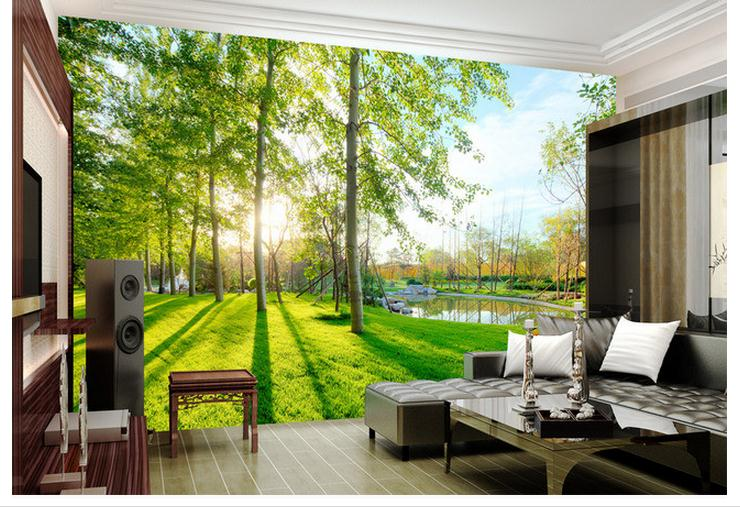 3D Wallpaper Custom 3d Wall Murals 3 D Landscape Garden Scenery Background Paintings Living Room In