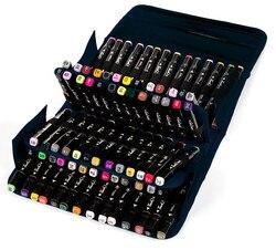 Художественный набор большой емкости черная Складная маркер ручка холст художественный чехол сумка для хранения ручек держать 80 шт Кисть д...