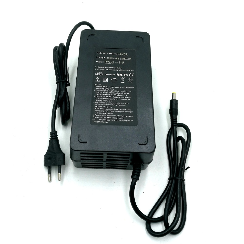 29.4V 2A Power Charger DC Head fr Lithium Battery 24V Electric Bicycle E-bike