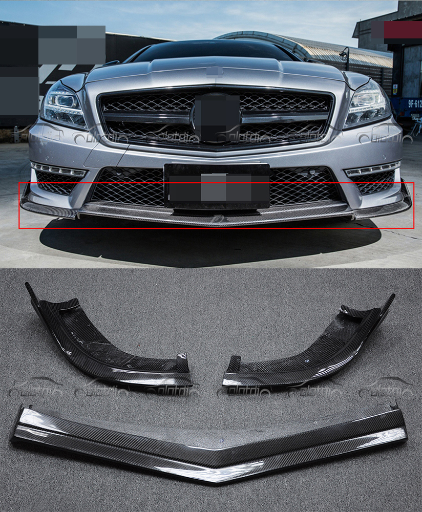 Carbon Auto Racing Front Bumper Lip Spoiler For Benz CLS-class W218 CLS AMG CLS 63 2012-2013 car accessories Car Styling