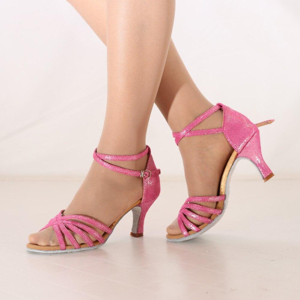 Sandals Woman Shoe-Ballroom Latin-Dance High-Heel Womens Fashion Modern Waltz Soft-Bottom