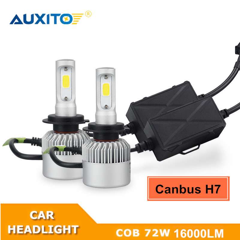 AUXITO For Volkswagen VW Passat CC 2009-2010 No Error COB H7 LED Headlights Bulb CANBUS Car Headlamp 16000LM High Low Beam