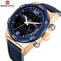 Luxus Marke herrenuhr NAVIFORCE Mode Sport Uhren herren Wasserdichte Quarz Datum Clock Mann Leder Army Military Armbanduhr-in Quarz-Uhren aus Uhren bei