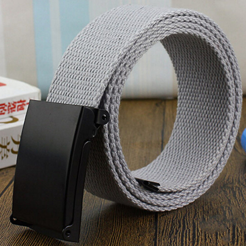 New Fashion Unisex Army Tactical Waist   Belt   Jeans Male Casual Luxury Canvas Webbing Waistband Ceinture Femme Men   Belt