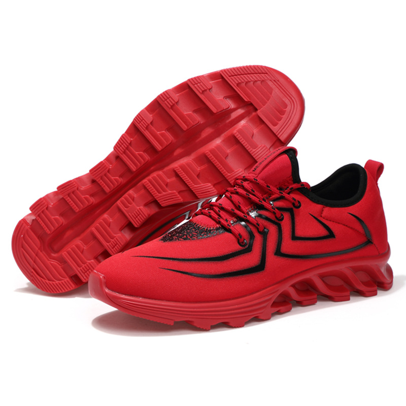 Spring Autumn Men and Women Sports Running Shoes Style Red Outdoor AIR Mesh Shock Trekking Trainer Sneakers Walking Blade Shoes