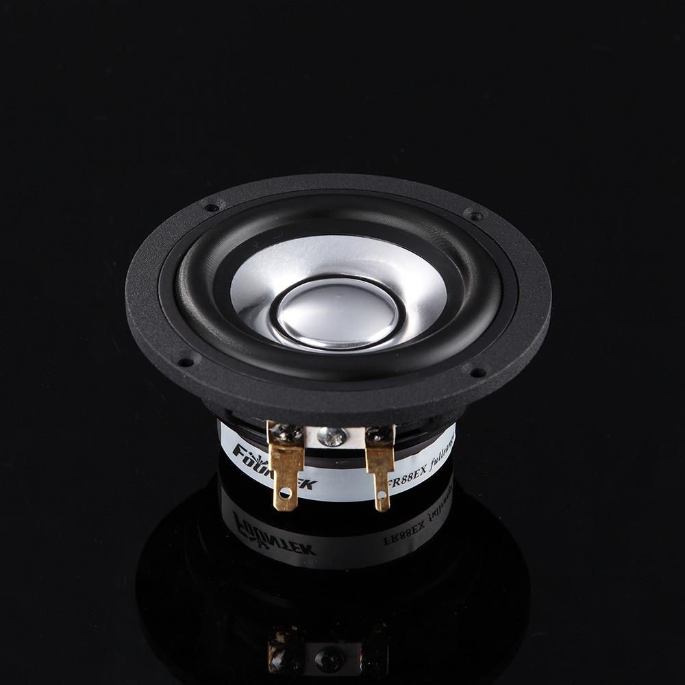 2PCS Fountek Original FR88EX 3inch Full Frequency Speaker Driver Neodymium Magnet Casting Aluminum Frame/Cone 8ohm 15W D81mm h 019 fountek fr88ex full range 3 inch hifi speaker amplifier speaker hot sale 84 3db 1w 1m