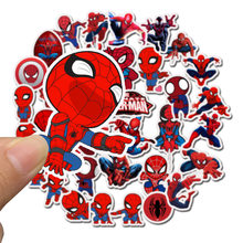 35Pcs/pack Marvel Stickers Spider-Man Cute The Avengers For Sticker Book Luggage Laptop Motorcycle Refrigerator Toys Pegatinas(China)