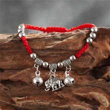 Bell Elephant Infinity Herat Red Rope Bracelet For Women Men Adjustable Charms hand Jewelry Gift DropShipping