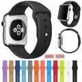 2017 hotsale de alta calidad de 21 colores 42mm 38mm correa de silicona para apple watch series1 series2 band sports pulsera hebilla
