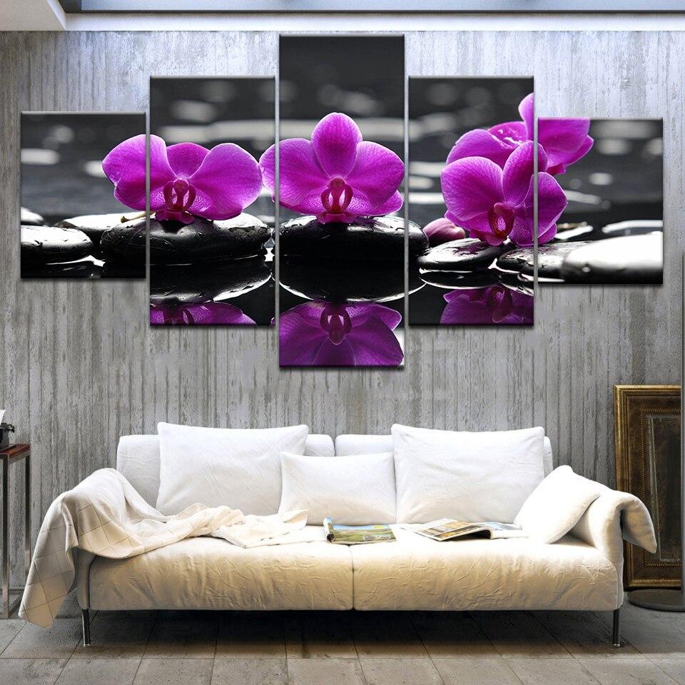 Постеры с орхидеями в интерьере