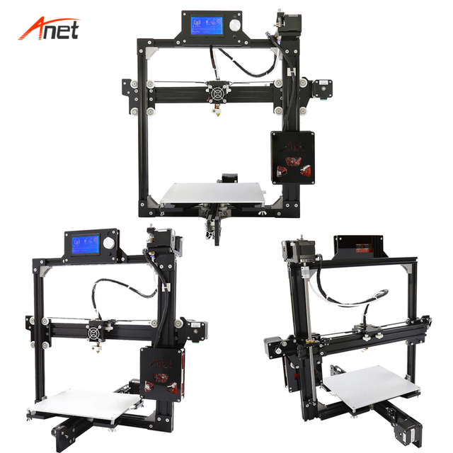 Anet A2 Large Printing Size Impresora 3d Full Metal Frame Easy Assembly 3d Printer Kit 2004/12864LCD 10m filament Stampante 3d 3