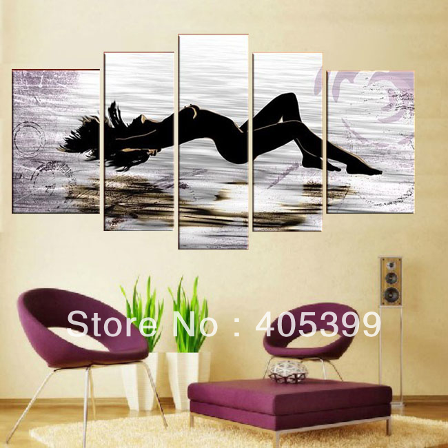 Real Handmade Modern Abstract Oil Painting On Canvas Wall Art , Bedroom  Decoration JYJHS009 From Reliable Oil Painting Suppliers On TBM Art  Decoration Store