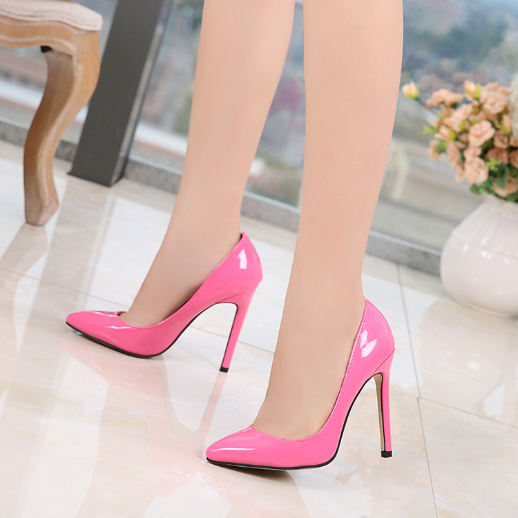 ce31f050656427 New Fashion High Heels Beautiful Women s Shoes Stiletto Pointed Shoes  Cross-border Ladies High Heels