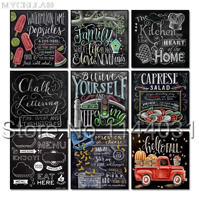 5D Diy Diamond Painting Chalkboard Sign Car Mosaic full Embroidery Cross Stitch Kit Sweet Tea Recipe Needlework Decorations