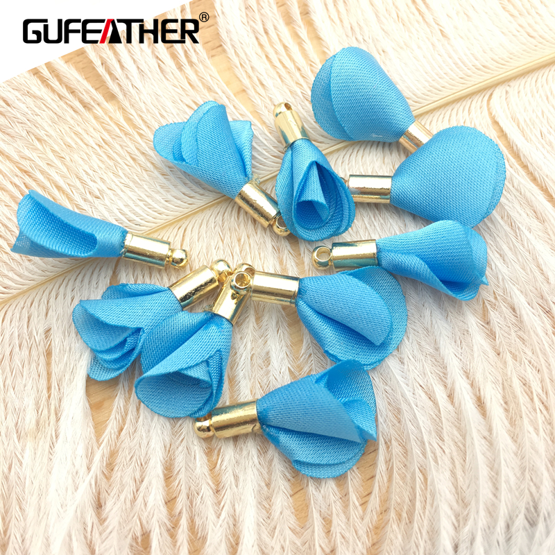 GUFEATHER L41/jewelry accessories/accessories parts/diy/jewelry findings & components/jewelry findings/flowers 10pcs/bag