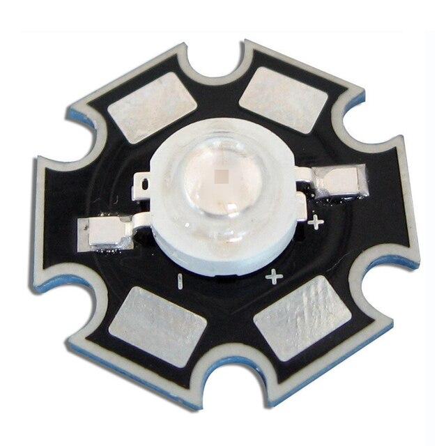 10 шт. 3 Вт высокой мощности Королевский синий 445nm ~ 460nm светодиодные лампы чип завод расти свет лампы с 20 мм Star базы