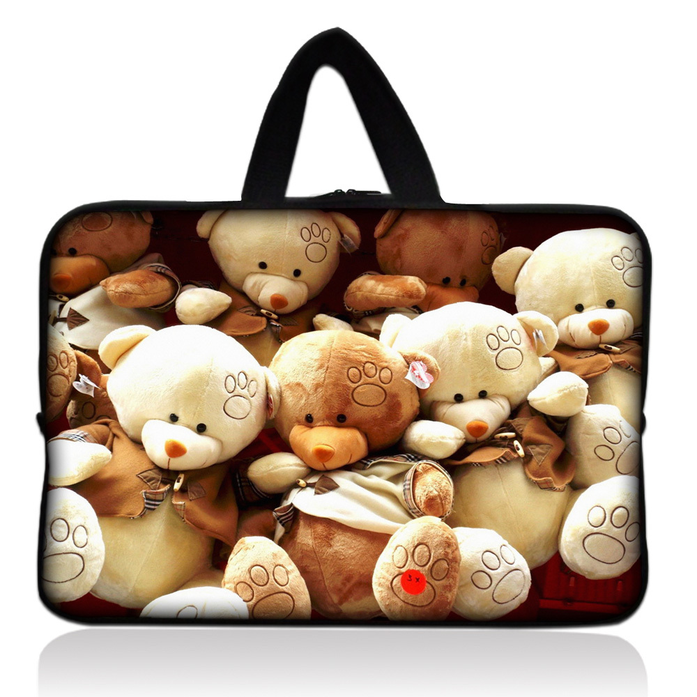 Free Shipping + Tracking number Teddy Bear Sleeve Bag Case Pouch +Handle For 7.9