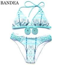 BANDEA 2017 Новое прибытие bikinis женщин бикини холтер купальники печати с низкой талией купальник лето бикини для Женщин высокого качества