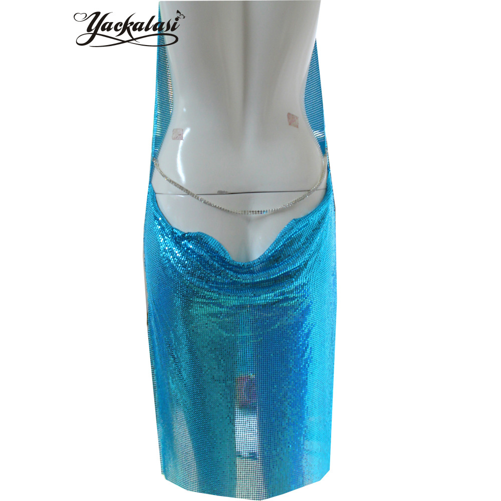 YACKALASI Party Dress Rose Gold Women Sexy Club Clothes Champagne ...