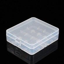 2pcs Clear Plastic Protective Storage Case Holder for 18650 18350 Batteries Hot Sale