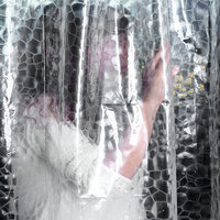 Clear Thicker PEVA Diamond Shower Curtain 3D Water Cube Mold Water White Color Free Shipping