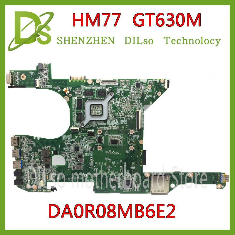 KEFU DR0R08MB6E2 motherboard For DELL 14R 5420 7420 Laptop Motherboard DA0R08MB6E2 HM77 GT630M original Test mainboard крепление для жк дисплея ноутбука 14r 5420 14r 5420