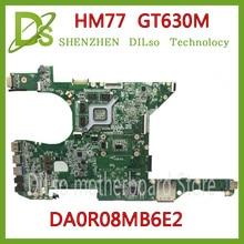 KEFU DR0R08MB6E2 motherboard For DELL 14R 5420 7420 Laptop Motherboard DA0R08MB6E2 HM77 GT630M original Test mainboard for dell inspiron 5420 kd0cc 0kd0cc cn 0kd0cc da0r08mb6e2 pga989 hm77 ddr3 laptop motherboard mainboard tested