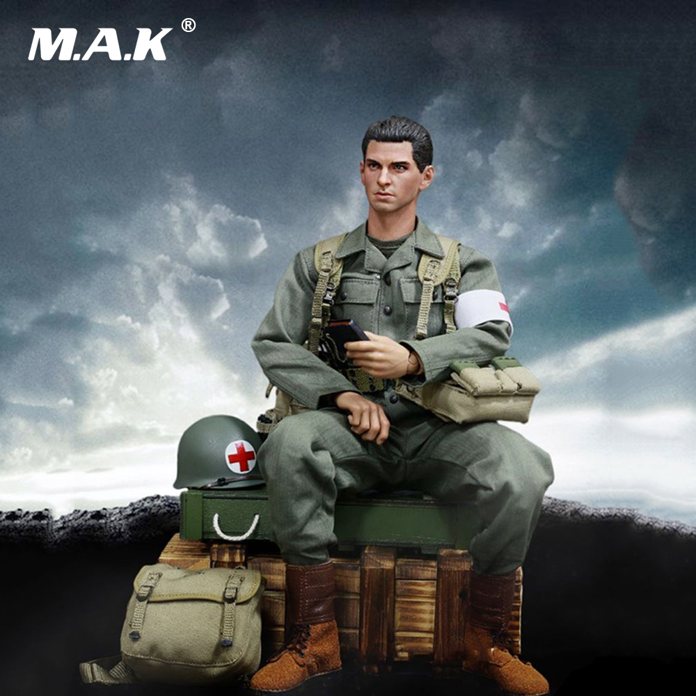 1:6 Male Figure Accessories WWII U.S.Army Military Surgeon Clothes Suit & Head Sculpt & Other Accessories for 12'' Figure Body цена