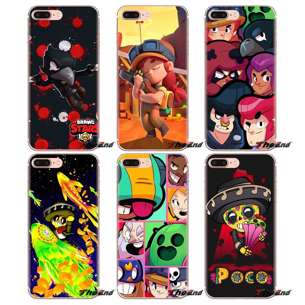 brawl stars For Xiaomi Mi3 Samsung A10 A30 A40 A50 A60 A70 Galaxy S2 Note 2 Grand Core Prime Soft Transparent Shell Covers