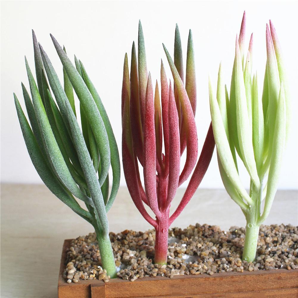 Beauty Plastic Artificial Succulents Craft Floristry Artificial Plants For Wall Decoration Creative DIY Accessories 3 Colors