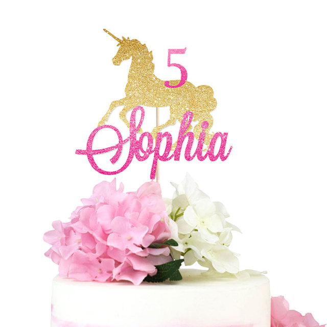 Unicornio Cupcake Topper De Papel Brillo Decoracion Fiesta De