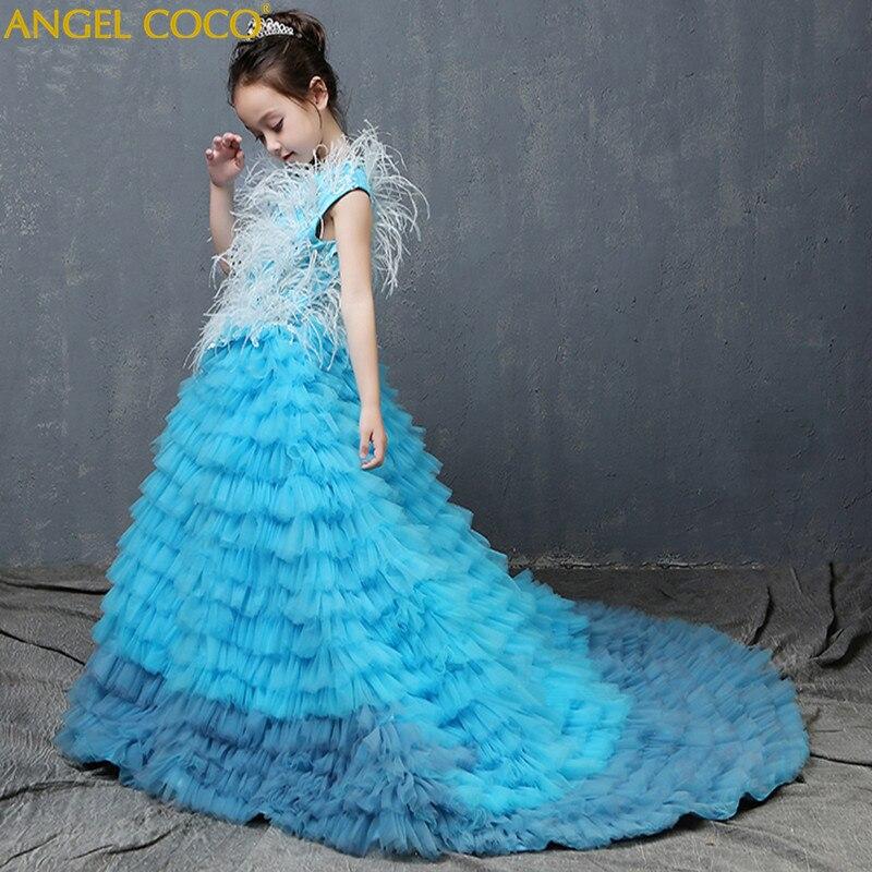 купить Flower Girl Dresses For Weddings Girl Party Dress Carnival Costume For Kids Graduation Gowns Children Vestido De Festa Carnanval по цене 107327.25 рублей