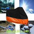 XXXL 190T Polyester Taffeta Fabric Orange Motorcycle Cover For Harley Davidson Electra Glide CVO Ultra Classic with lock hole