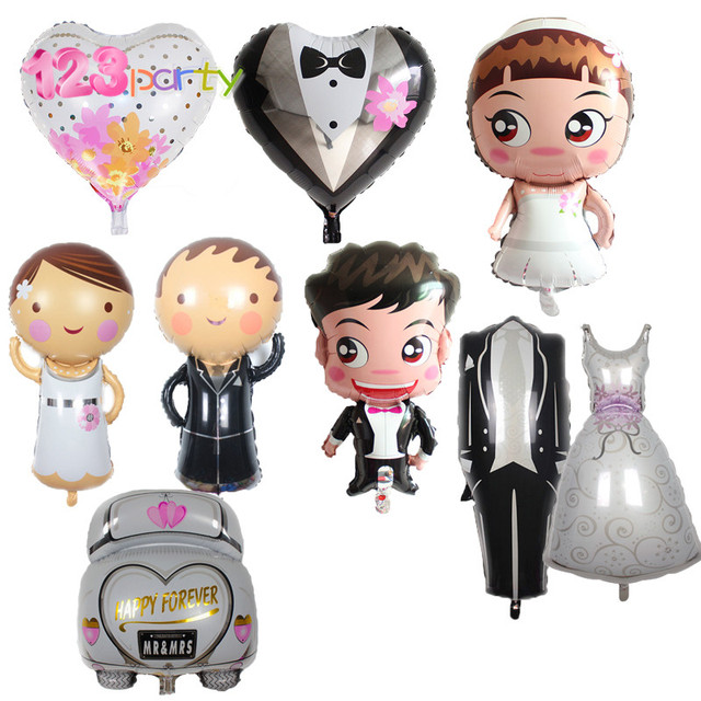 123 party 1pcs cartoon wedding car aluminum balloon decor wedding party mariage decor bridal shower bachelorette