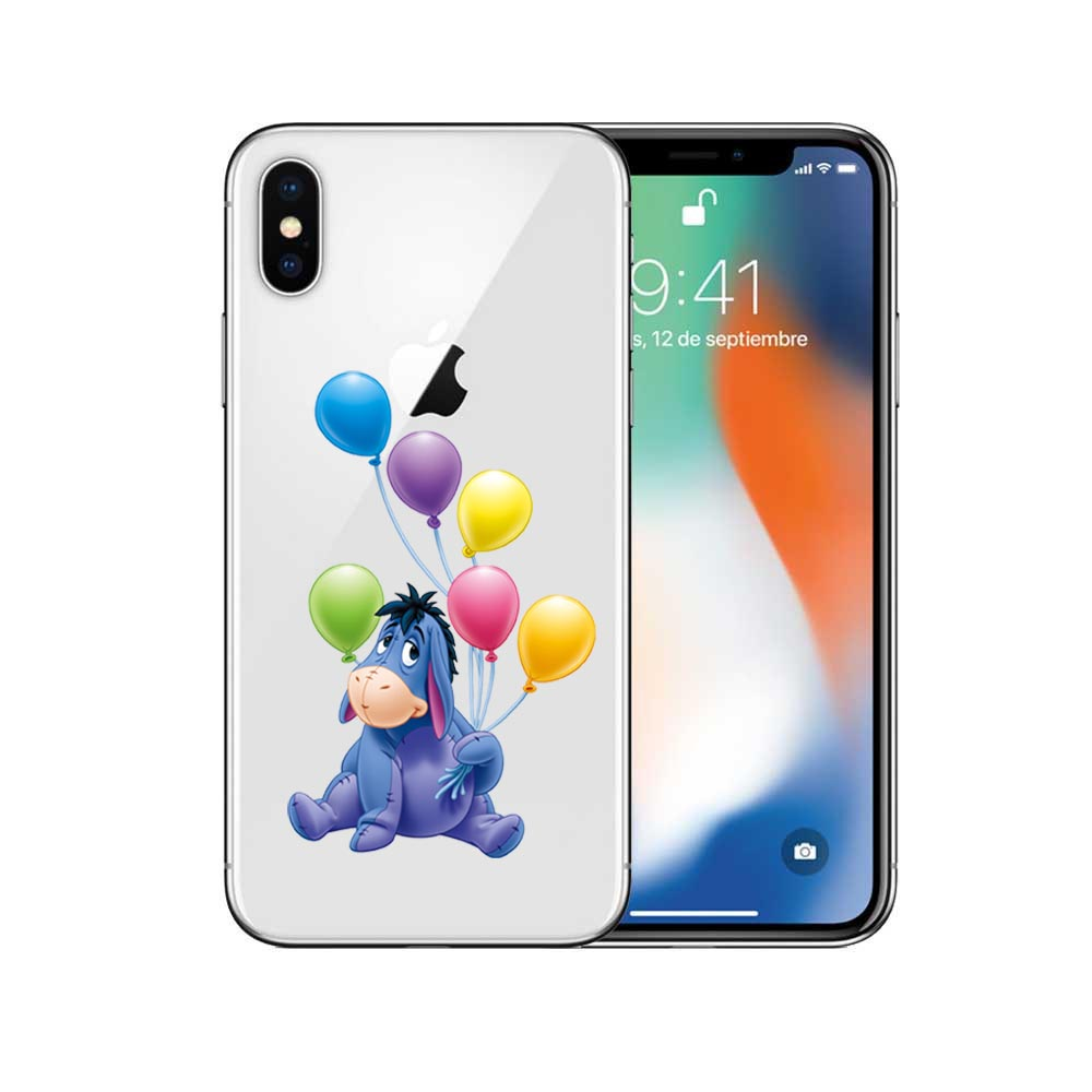 Winnie Pooh Cartoon Naughty Lovely Eeyore Soft TPU Transparent Phone Iphone X 10 5S SE 6 6Splus 7 7Plus 8 8Plus