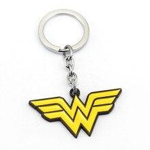 Wonder Woman Keychain Anime Key Chain Moive Key Ring Holder Pendant Chaveiro Jewelry Souvenir YS12090