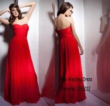 Neue design schatz exquisite A-linie red chiffon abendkleider Bodenlangen Langes abendkleid vestido de formatura