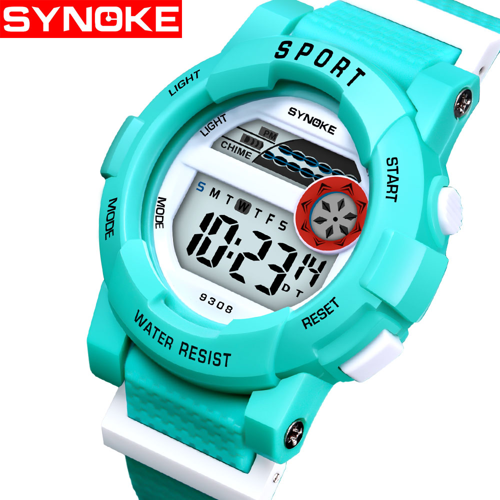 Humorous Synoke Kids Watches Student Sports Electronic Meter Colour Junior Version Fashion Multifunctional Back Light Waterproof Digital Watches