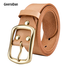 GEERSIDAN 2018 men belt cow genuine leather luxury strap male for new fashion classice vintage pin buckle drop shipping