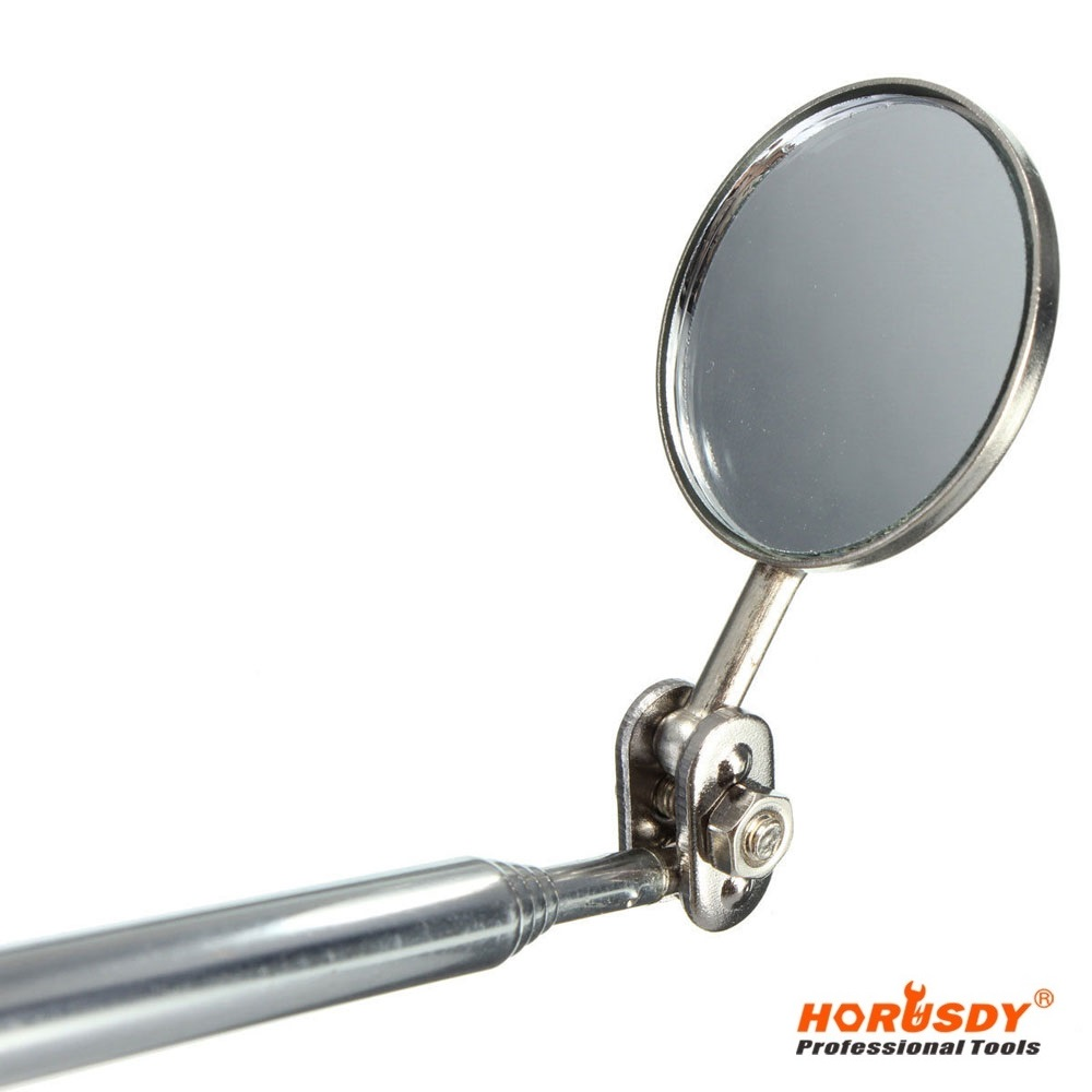 HORUSDY  Pocket Telescopic Inspection Mirror Round Flexible Head Clip PenTool Stainless steel  For Car  цены